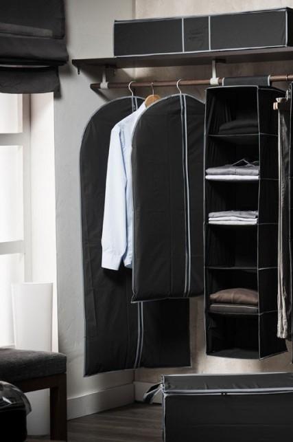 Zwarte kledingkast kledinghoes lang voor jurken